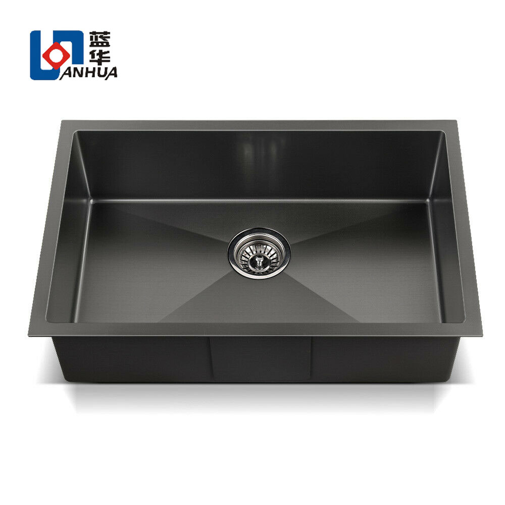 High quality SUS304 Nano Black Stainless Steel Kitchen Sink