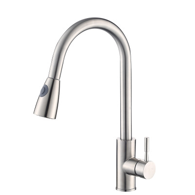 pull out sprayer flexible hose stainless steel kitchen faucet