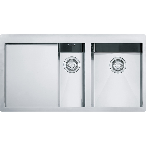 Kitchenware 39 Inch Undermount Double Handmade Stainless Steel Kitchen Sink With Drainer