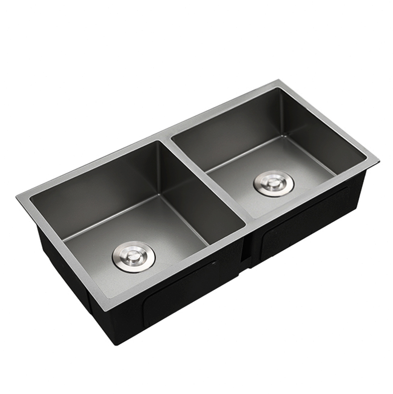 Luxury Nano Finish SS Undermount Double Bowl Stainless Steel Kitchen Sink