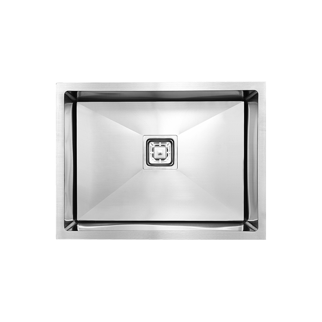 India 201 Stainless Steel Handmade Kitchen Sink with Square Hole
